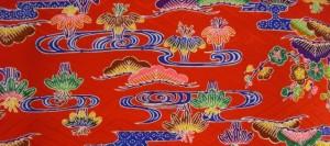 着物買取沖縄紅型の画像